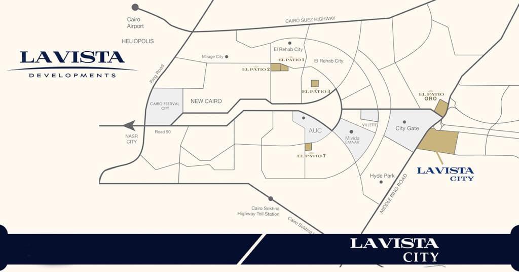 خريطة لافيستا بالعاصمة الإدارية